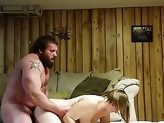 straight bear fucks bbw on spycam