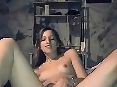 Hot girl stripping and masturbating on webcam