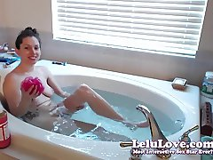 Lelu Love-WEBCAM: Live Podcast Masturbation Bath Shaving