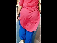 Indian Milf in red Salwar filmed by White Guy