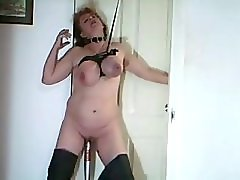 Baseball Bat and Breast Bondage