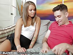OnlyTeenBlowjobs Teen With Brace's First Blowjob