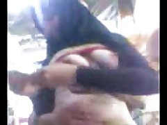 hijab egypt with boyfriend playing in Nipples rosy tit