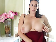 Sexy Alison plays with her big tits and wet pussy