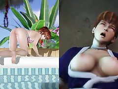 Kasumi (DOA) Pole Dances & Gets Fucked