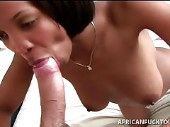 Black babe fulfills interracial fantasy