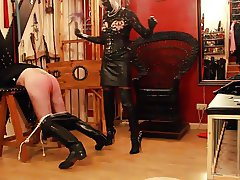 TV Mistress in Thigh high leather boots
