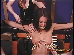 Three naughty sluts have their way with a ravishing raven-ha