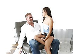 Stepsis Michelle Martinez gets fucked by two cocks