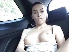 Squirting in macchina