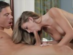 Hardcore Sex On Bed With Pretty Blonde