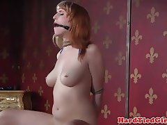 Tiedup submissive spanked and flogged roughly