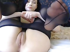 Brunette saggy tits bobs hot ass cubby tight cameltoe pussy