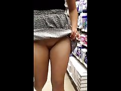 in the store without panties