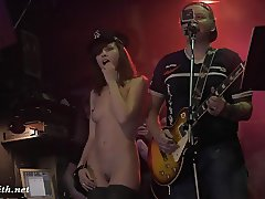 Jeny Smith naked girl in a bar and on stage