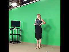 Weather girl Christina's bubble induces many erections