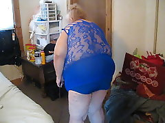 cleaning in new blue top