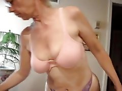 Handsome mature blond with big boobs