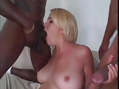 Blonde MMF BBC Pussy DP