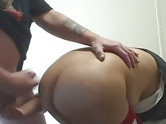 Cumming on filipina hot ass.