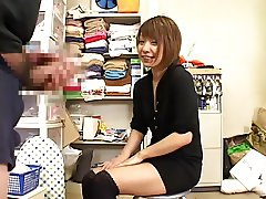 Shy Japanese Amateurs help men cum
