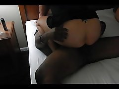 Cuckold BBC - Taking a good pounding - Moaning and cum