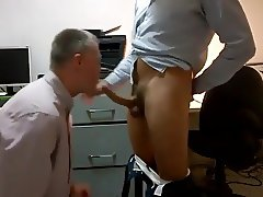 Str8 daddies office bj
