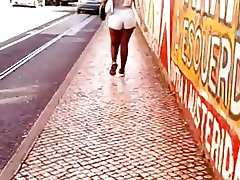 Portuguese big ass on the street (sorry the bad quality)