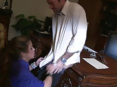 Pro MILF give attention to this gentleman to make her happy in the office