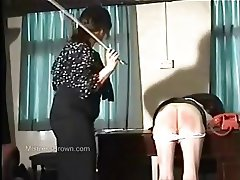 Caned for stealing knickers