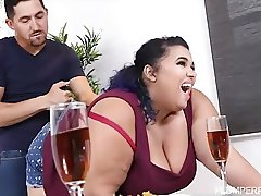 Busty Exotic BBW Charlotte Ward has Belly Button Worshipped