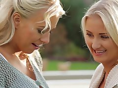 A GIRL KNOWS - Outdoor lesbian erotica with Czech stunners