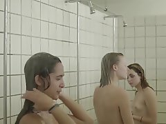 Crazy danish shower teens