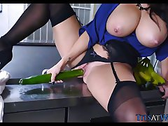 Big Tits get Fucked in the kitchen