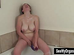 Busty Ginny Fuck A Huge Toy
