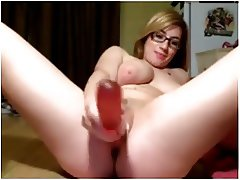 Blond Girl Toys Her Ass Till She Squirts