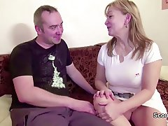 Hairy Mom Get First Fuck in Front of Camera for Cash