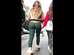 FINE PAWG TIGHT GREEN PANDEX BUBBLE ASS