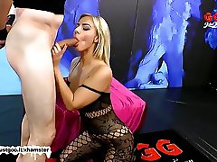 Beautiful Nathaly Cherie get her pretty face cum covered GGG