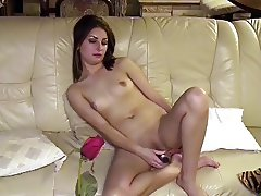 COLLEGE GIRL IOANA IS PLAYING WITH HER FIRST SEXTOY