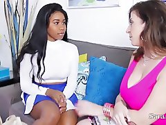 Busty Teacher Sara Jay helps Pupil Jenna Foxx with Sex Ed!