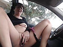 Milf Car Playing