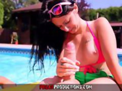 Pegas Productions - Fucking My Young Step-Sister in the Family Pool