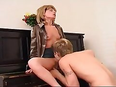 MATURE RUSSIAN PIANO TEACHER