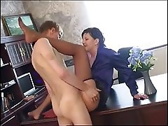 Russian mature Flora fuck with a young