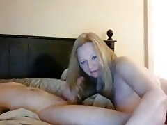 Hot Granny Blonde Hairjob and Cum in Hair, Long Hair, Hair