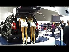 Car-show upskirts of dancing girls