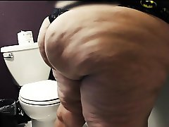 Big Butt Pear caught in bathroom