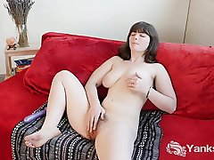 Busty Raven Toy Her Hairy Pussy