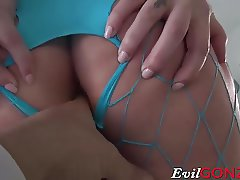 Hot babe Maddy OReilly deepthroats his hard gigantic dick